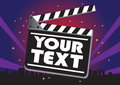 Movie clap board Royalty Free Stock Photo