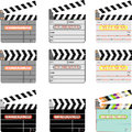Movie clap digital clapper board set digital clapboard slate is a digital slate clapper board shot log and shot notepad Stock Images