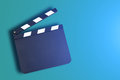 Movie clapper board blank production with copy space Royalty Free Stock Image