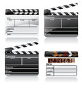 Movie clapper board set Royalty Free Stock Images