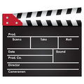 Movie clapper used film industry background vector illustration Royalty Free Stock Image