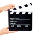 Movie clapperboard Stock Photo