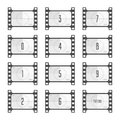 Movie countdown numbers. Royalty Free Stock Photo