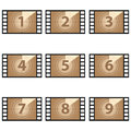 Movie countdown numbers  set Royalty Free Stock Photo