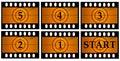Movie countdown Royalty Free Stock Photo