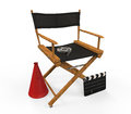 Movie director chair isolated on white background d render Stock Image
