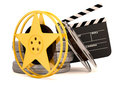 Movie film reels Stock Images