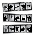 Movie filmstrip Stock Photos