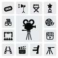 Movie icon Royalty Free Stock Image