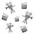Movie icon doodle theme graphic design illustration Stock Photos
