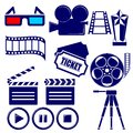 Movie icon set illustration Stock Image