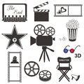 Movie icons Stock Image