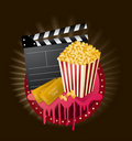 Movie items medallion Stock Image