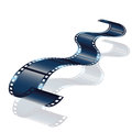 Movie or photo film vector isolated on white background Royalty Free Stock Photo