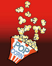 Movie Popcorn Cartoon Stock Images