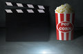 Movie and Popcorn Concept Royalty Free Stock Photo