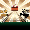 Movie projectors and clapboard Royalty Free Stock Photography