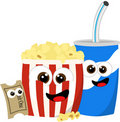 Movie refreshments Stock Image