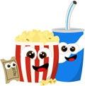 Movie refreshments Royalty Free Stock Photo