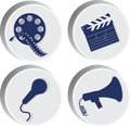 Movie. Set of icons.the attributes of the movie