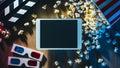 Movie streaming app Royalty Free Stock Photo
