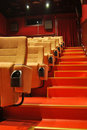 Movie Theater Seats Royalty Free Stock Photo