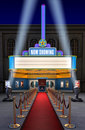 Movie Theatre & Ticket Box Royalty Free Stock Images