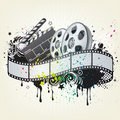 Movie theme element Royalty Free Stock Image