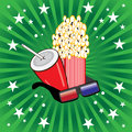 Movie theme objects Stock Photography
