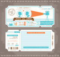Movie ticket wedding invitation design template vector Stock Photo