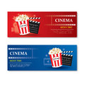 Movie time banner and coupon.Cinema template element design