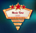 Movie time cinema premiere poster design.