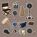 Movie tool stickers Stock Photo