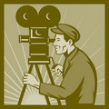 Movie tv film camera director Stock Photography
