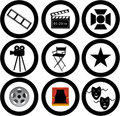 Movies illustration Royalty Free Stock Photo