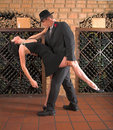 Movimento do tango Foto de Stock Royalty Free