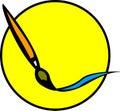 Movimiento del cepillo de pintura Foto de archivo libre de regalías