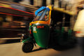 Moving auto rickshaw, Old Delhi, India Royalty Free Stock Photo