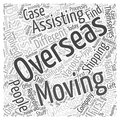 Moving business overseas word cloud concept word cloud concept background