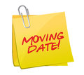 Moving date post illustration design Stock Image