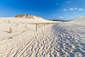 Moving dunes near Baltic Sea in Leba Royalty Free Stock Photo