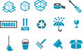 Moving Icon Set Stock Images