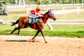Moving jocky and horse racing sport jocking at korat thailand january Stock Images