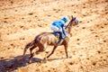 Moving jocky and horse racing sport jocking at korat thailand january Royalty Free Stock Image
