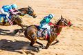 Moving jocky and horse racing sport jocking at korat thailand january Royalty Free Stock Image