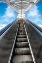 Moving stairway to heaven. Business opportunity to success Royalty Free Stock Photo