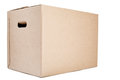Moving or Storage Box on White Royalty Free Stock Photo