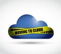 Moving to cloud sign illustration design over a white background Royalty Free Stock Photos