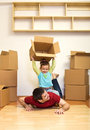 Moving to a new home is fun Royalty Free Stock Photos