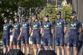 Movistar Professional Cycling Team Stock Images